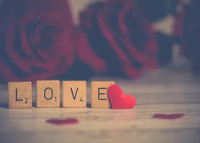 Scrabble letters that spell love